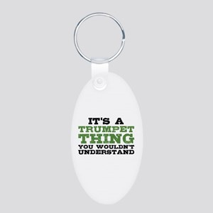 It's a Trumpet Thing Aluminum Oval Keychain