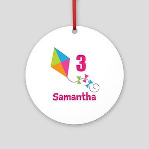 Personalized Birthday Kite Ornament (Round)