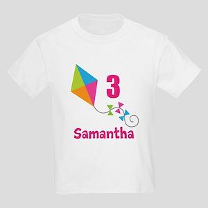 Personalized Birthday Kite Kids Light T-Shirt