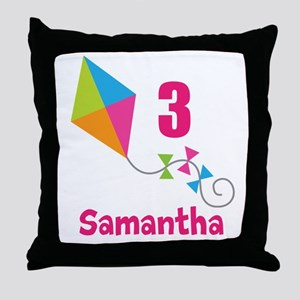 Personalized Birthday Kite Throw Pillow