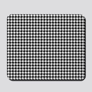 Retro Houndstooth Vintage Mousepad