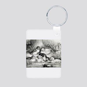 Jolly young ducks - 1866 Aluminum Photo Keychain