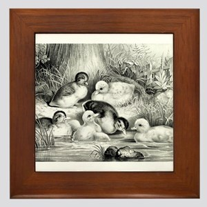 Jolly young ducks - 1866 Framed Tile