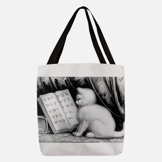Kittie's lesson - 1877 Polyester Tote Bag