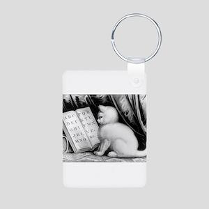 Kittie's lesson - 1877 Aluminum Photo Keychain