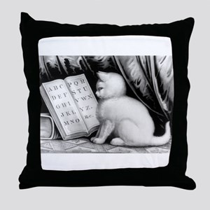 Kittie's lesson - 1877 Throw Pillow