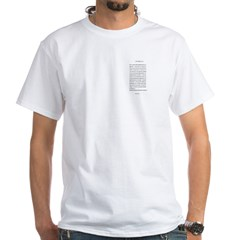 Compact Chinese Heart Sutra White T-Shirt