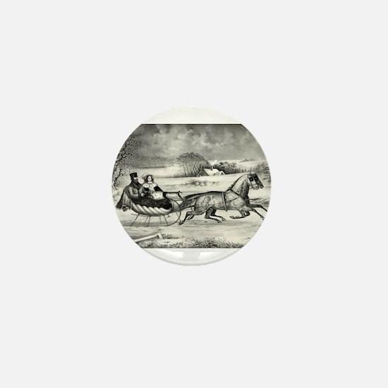 The road, winter - 1853 Mini Button