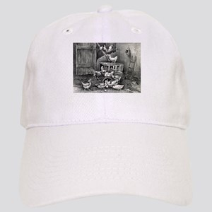 The poultry yard - 1869 Baseball Cap