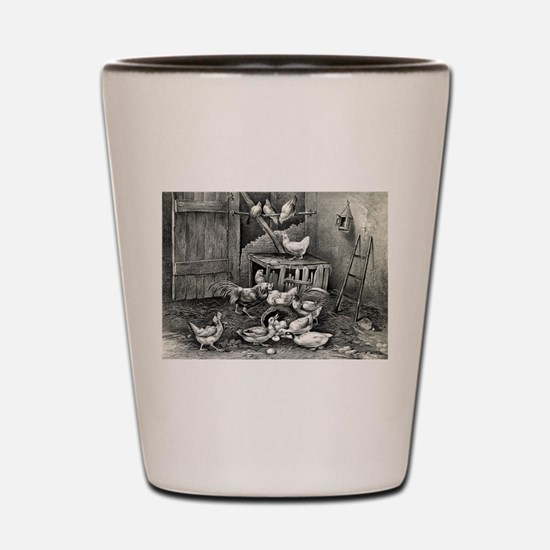 The poultry yard - 1869 Shot Glass