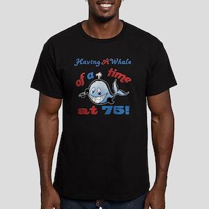 75th Birthday Humor (W Men's Fitted T-Shirt (dark)