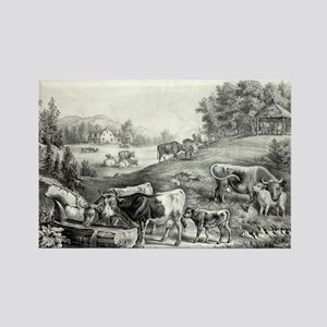 The pasture in summer - the drinking trough - 1867
