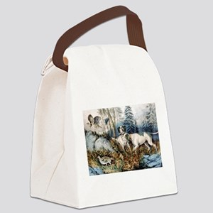 Partridge shooting - 1870 Canvas Lunch Bag
