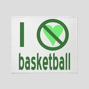 I Hate Basketball Throw Blanket