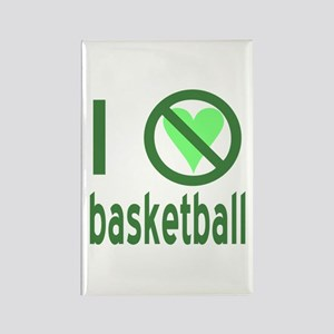 I Hate Basketball Rectangle Magnet