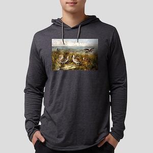 Shooting on the prairie - 1907 Mens Hooded Shirt