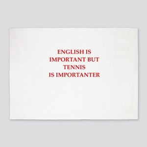English games joke 5'x7'Area Rug