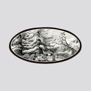 Snowed up - ruffed grouse in winter - 1867 Patch