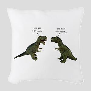 Tyrannosaurus Rex Woven Throw Pillow
