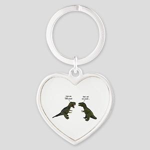 Tyrannosaurus Rex Heart Keychain