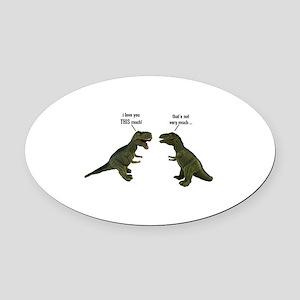Tyrannosaurus Rex Oval Car Magnet