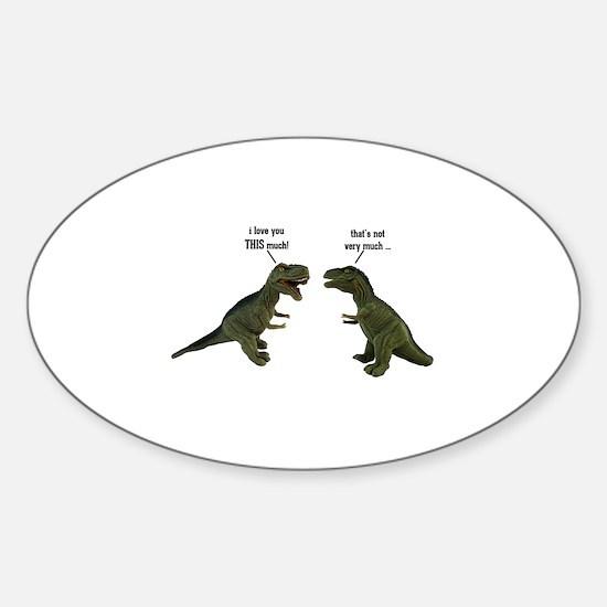 Tyrannosaurus Rex Sticker (Oval)