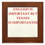 English games joke Framed Tile