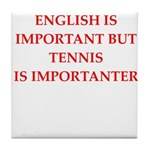 English games joke Tile Coaster