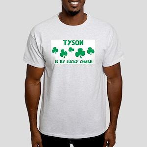 Tyson is my lucky charm Ash Grey T-Shirt