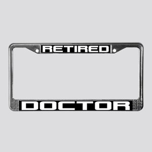 Retired Doctor License Plate Frame