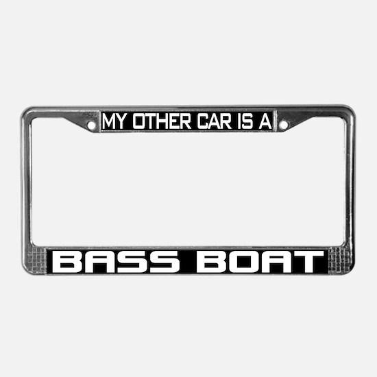 Bass Boat License Plate Frame