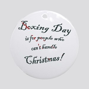 Boxing Day Ornament (Round)