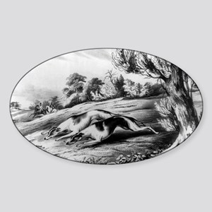 The rabbit hunt - all but caught - 1849 Sticker (O