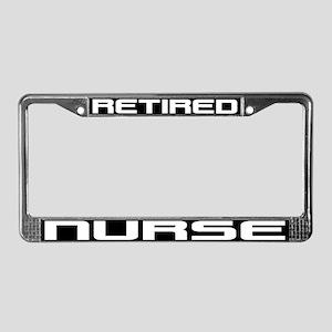 Retired Nurse License Plate Frame