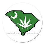 SC Medical Marijuana Movement Logo Round Car Magne