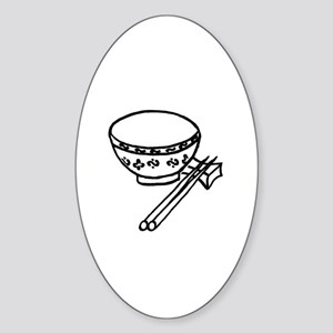 Chinese rice bowl Oval Sticker