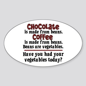 Chocolate & Coffee Sticker (Oval)
