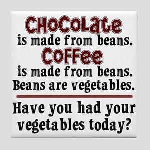Chocolate & Coffee Tile Coaster
