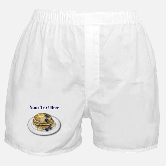 Pancakes With Syrup And Blueberries Boxer Shorts