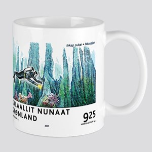2005 Greenland Scuba Diver Postage Stamp Mug
