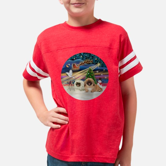 Xmas Magic - Pekingese (two-r Youth Football Shirt