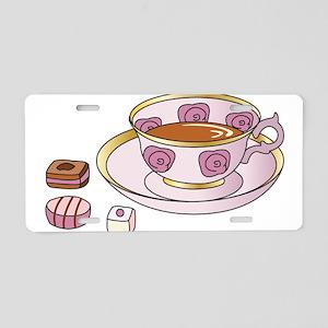 Tea and Petit Fours Aluminum License Plate