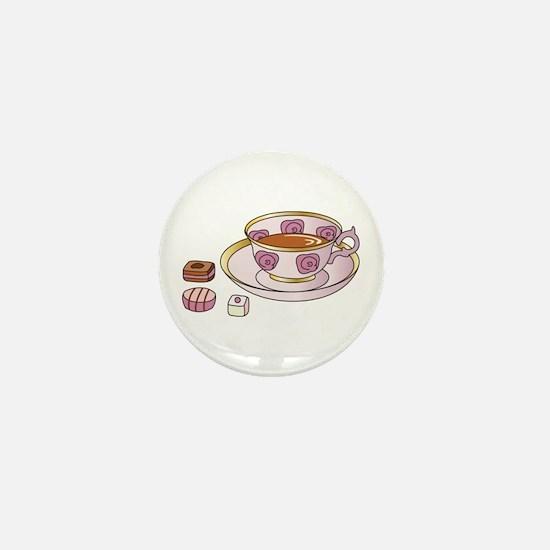 Tea and Petit Fours Mini Button