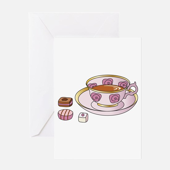 Tea and Petit Fours Greeting Card