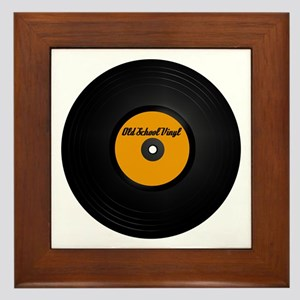 Old School Vinyl Record Framed Tile