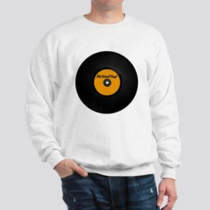 Old School Vinyl Record Sweatshirt