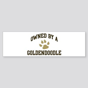 Goldendoodle: Owned Bumper Sticker