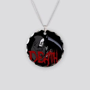 Death - Halloween Necklace Circle Charm