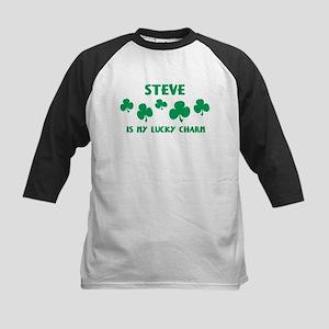 Steve is my lucky charm Kids Baseball Jersey