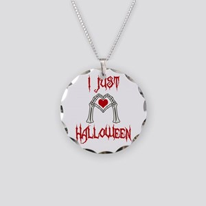 I just love Halloween Necklace Circle Charm
